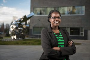 Health sciences senior Nyabony Gat was on the medical degree track until she got involved in UAA's Center for Community Engagement and Learning and found a passion for community and public health. (Photo by Ted Kincaid / University of Alaska Anchorage)