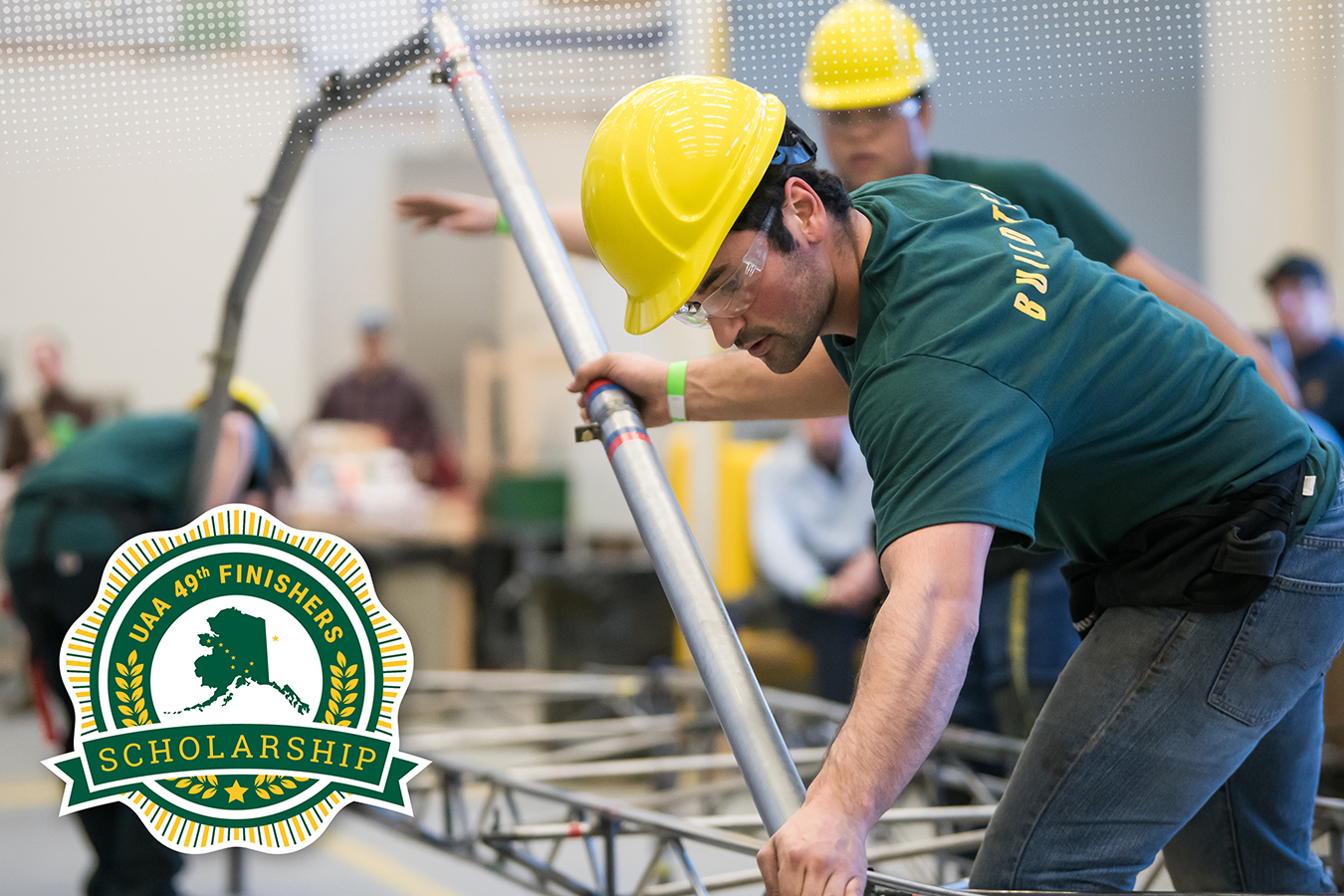 UAA students competing in the annual steel bridge competition