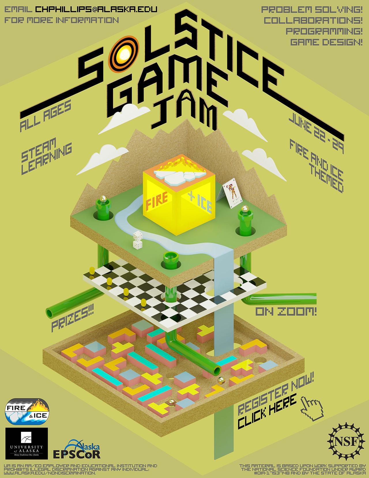 Solstice Game Jam 2020 poster
