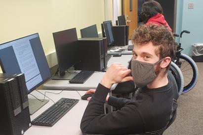 Kodiak College student Kaleb Callahan