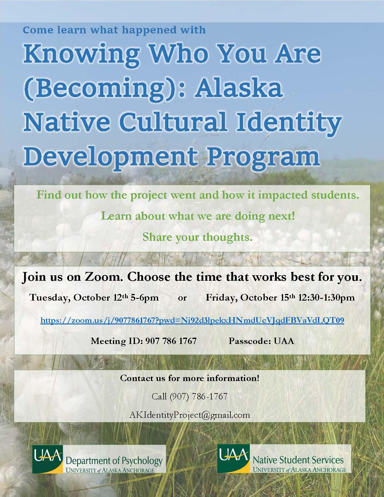 Cultural Identity Project presentations invite