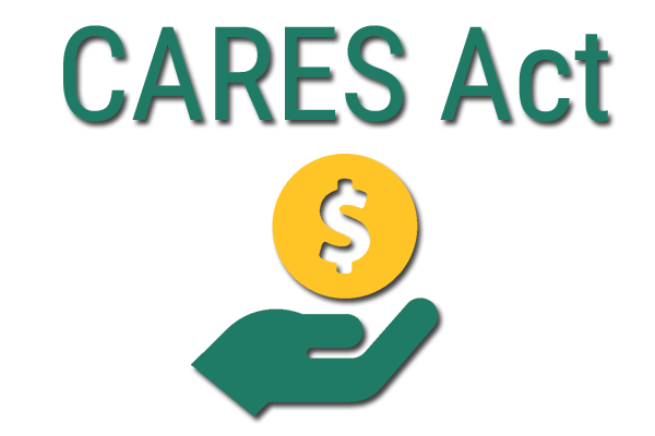 CARES Act hand holding money