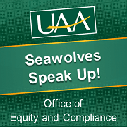 Seawolve's speak up on campus logo