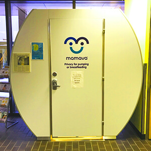 UAA lactation pod in Student Union.