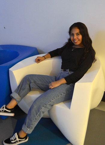 Cynthia sitting
