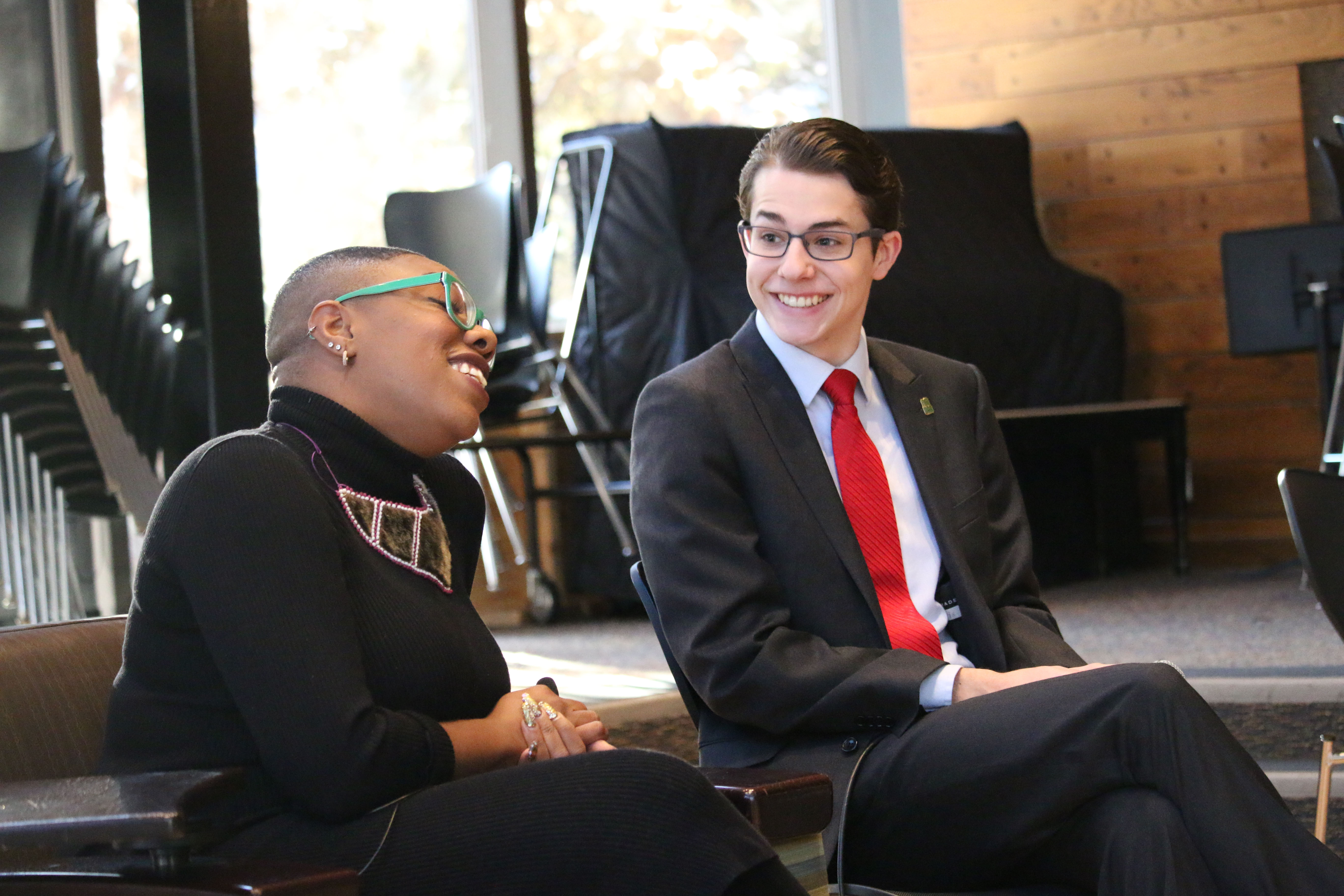 Alec Burris and Symone Sanders