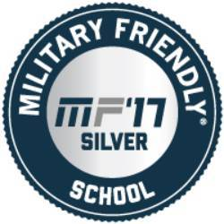 Military Friendly School 2017 Silver Logo
